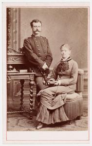 Portret van Jean Louis Furnee (1850-1896) en Edzardina Johanna Modderman (1860-1928)
