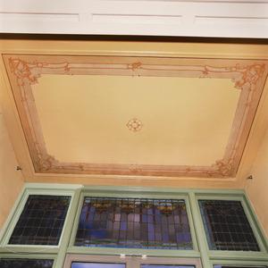 Plafond randwerk in neorococo-stijl