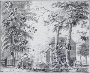 Huis De Kopermolen (in Leusden?) gezien vanaf de voorzijde