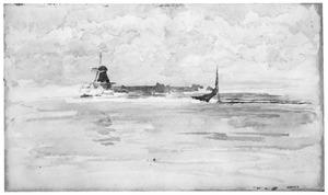 Dordrecht: de Oude Maal met de molen 'Welgelegen'