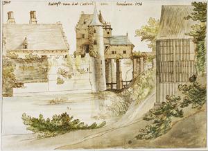 De toegangsbrug van kasteel Tervuren, vanuit het noord-westen
