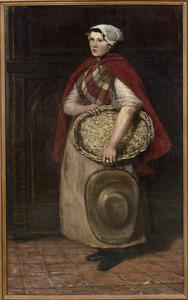 Model in Schevenings kostuum