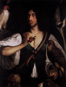 Portret van landgraaf Friedrich van Hesse-Eschwege (1617-1655) als valkenier