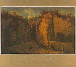 Gezicht op het graf van Vergilius bij de grot in Pozzuoli in de buurt van Napels