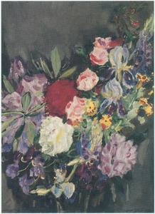 Gemengd boeket met rhododendrons