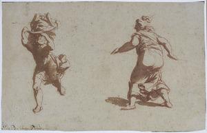 Twee figuurstudies naar de antieken