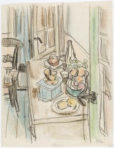 Keuken in 'De Studentenkring' in Sint Anna ter Muiden