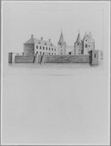 Achterzijde van Langerak bij Nieuwpoort