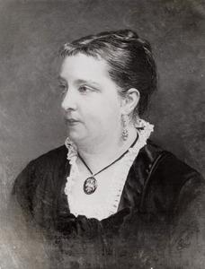 Portret van Francoise Louise Susanne Caroline Bouricius (1846-1913)