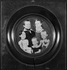Portret van de kinderen van Bartout van der Feen (1785-1846) en Christina Sebastiana Emants (1786-1849)