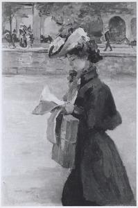 Een lezende midinette, Parijs