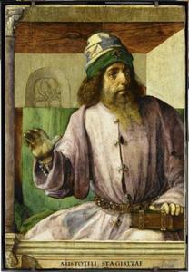 Aristoteles (384-322 voor Chr.) uit de serie 'Beroemde Mannen'
