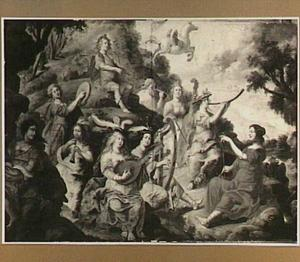 Apollo, de muzen en het paard Pegasus op de Helicon