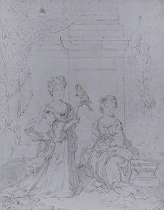 Portret van twee onbekende meisjes