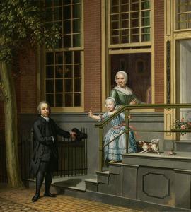 Portret van Jan de Groot (1733-1801), Margaretha Steenmulders (ca. 1705-1777) en Margaretha Elisabeth de Groot (1768-1814)