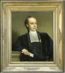 Portret van A. (Abraham) des Amorie van der Hoeven (1798-1855)