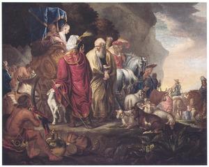 De families van Lot en Abram [Abraham]  scheiden hun wegen (Genesis 13:1-18)