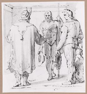 De centurion Cornelis zendt boodschappers naar Petrus (Handelingen 10:7-9)