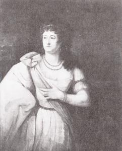 Portret van de actrice Johanna Cornelia Ziesenis-Wattier (1762-1827) als 'Elfride' uit het gelijknamige toneelstuk van F.J. Bertuch