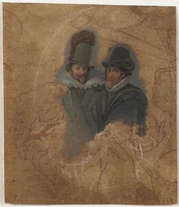 Portret van de prinsen Maurits (1567-1625) en Frederik Hendrik (1584-1647)