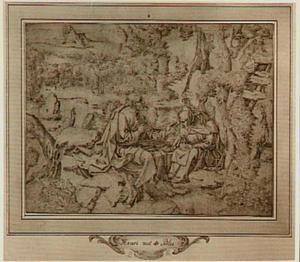 De heremieten Antonius en Paulus in de woestijn