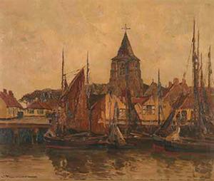 Vissersschepen in de haven