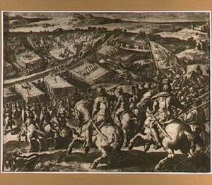De veldslag van Florence tegen Siena in de vlakte van Scannagallo nabij Marciano in de Valdichiana,  2 augustus 1554