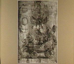De triomfwagen voor de overwinning bij Calloo (21 juni 1638)
