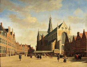 Grote Markt met St. Bavo-kerk te Haarlem