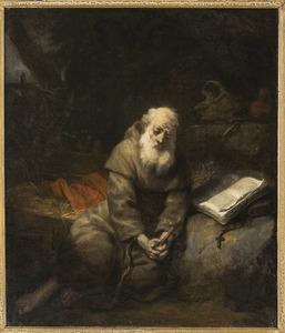 Een fransiscaanse heremiet in gebed