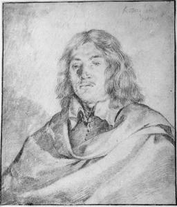 Portret van een man,  mogelijk zelfportret van Karel Dujardin  (1626-1678)