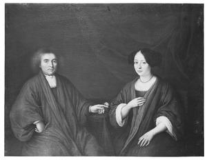 Dubbelportret van een echtpaar, mogelijk Andries Schrevelius (1649-1690)  en Anna van IJsselsteyn (....-....)