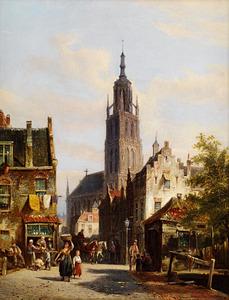 Stadsgezicht met de Grote kerk in Breda