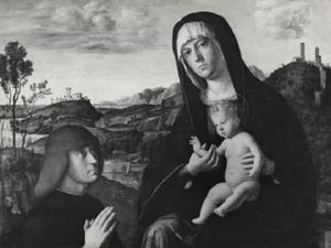 Maria met Kind en stichter