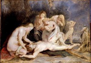 Venus treurt om Adonis