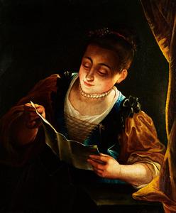 Lezende jonge vrouw