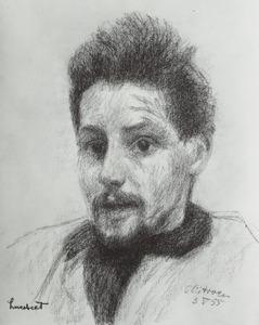Portret van Lubertus Jacobus Swaanswijk (1924-1994) (Lucebert)