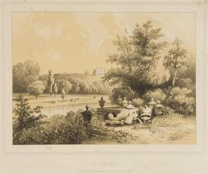 Gezicht op een chalet op het landgoed Rozendaal