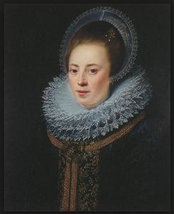 Portret van Helena de Pottere, echtgenote van Cornelis Booth