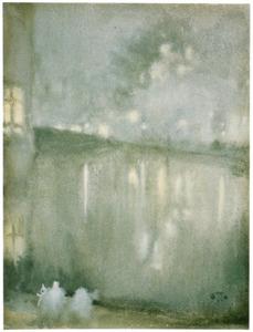 Hollandse gracht bij nacht