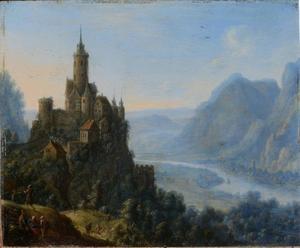 Landschap met Katzenelnbogen aan de Rijn