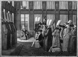Frederik Gijsbert van Dedem tot de Gelder (1743-1820) als ambassadeur bij de Porte, met naast hem zijn zoon Anthony Boldewijn Gijsbert van Dedem (1774-1825)