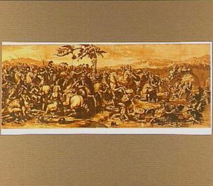 De slag bij de ponte Molle (Milvio) te Rome