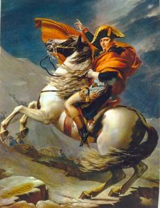 Napoloeon Bonaparte steekt de Alpen over op de Grand Saint Bernard