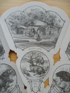 Medaille waaier: Herten perk en hert