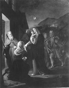 De aankomst van de Heilige Familie in Egypte