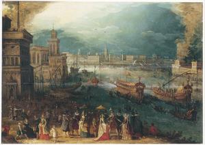 Capriccio van de Bacino di San Marco te Venetië, op Hemelvaartsdag