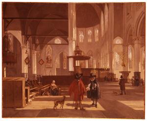 Interieur van de Oude Kerk, Amsterdam