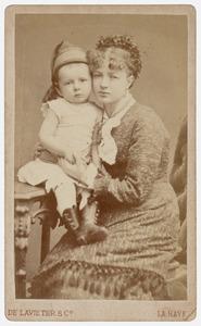 Portret van een vrouw en een kind