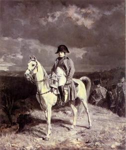 Napoleon in Arcis-sur-Aube, bij Troyes tijdens de Campagen de France  in 1814